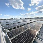 本社屋上太陽光自社発電設備